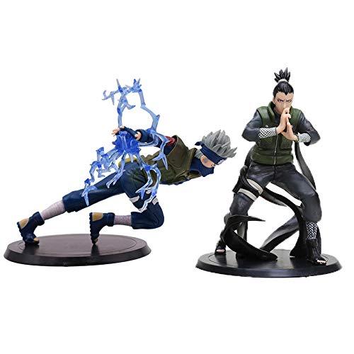 VNNY 2 unids/Set Figuras de Naruto Sasuke Kakashi Shikamaru Hinata Madara Gaara Pain Itachi Minato...