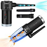 Compressed Air Duster & Small Vacuum Cleaner 2-in-1, PC Air Duster Electric, USB Rechargeable Compressed Air Spray Cleaner, Portable Air Blower and Mini Vacuum Cleaner for Keyboard/Computer/Car Seat