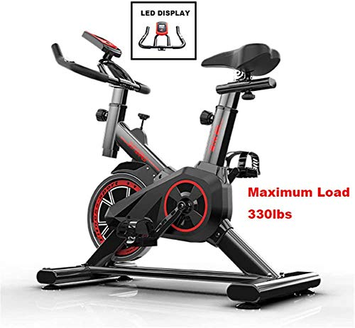 Amethyst Exercise Cycling Bike,Indoor Fitness Bike,Adjustable Professional Exercise Bike,Workout Training Equipment for Home Office Gym,Black,110 * 85 * 45cm