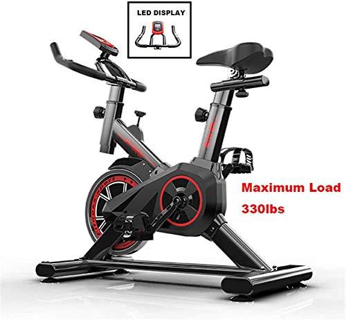 Exercise Cycling Bike, Indoor Fitness Bike, verstelbare Professionele hometrainer met LCD-scherm, Workout trainingstoestellen comfortabele stoel Kussen Zadel voor thuiskantoor Gym