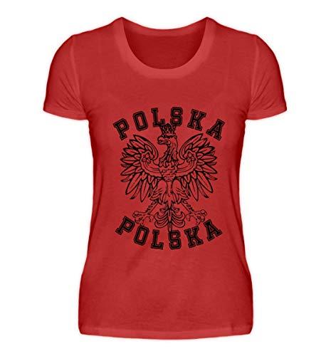 Hochwertiges Damenshirt - Polnische Flagge Polska Adler Fahne Wappen Geschenk Polen Länder Fan Shirt