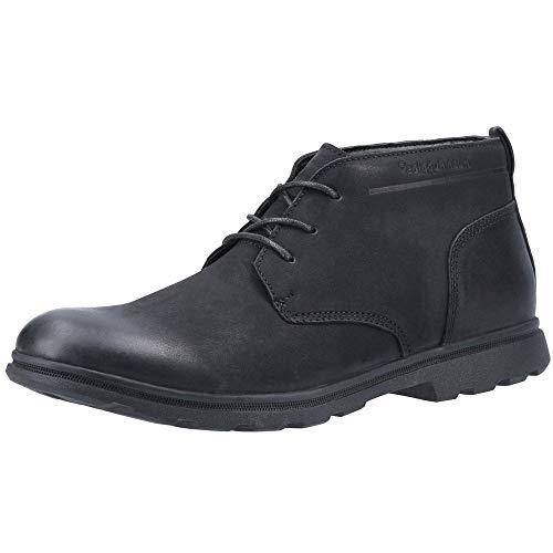 Hush Puppies Tyson Chukka Desert Boots en cuir pour homme - Noir - Noir , 46 EU