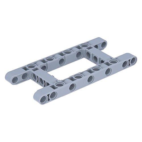 LEGO Technik - 5x Balken 5 x 11 offene Mitte, Rahmen dick Hellgrau