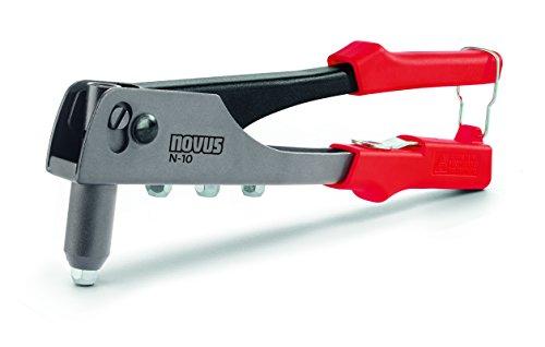 Novus Pince à rivets aveugles N-10 - Riveuse professionnelle avec 15 rivets aveugles en aluminium - Pince à riveter avec ressort de rappel pratique