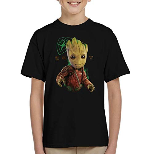 Marvel Guardians of The Galaxy Baby Groot Eyes Logo Kid's T-Shirt