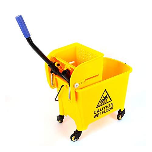 Carro de limpieza profesional SATISFYOK con ruedas, carro de limpieza para el...