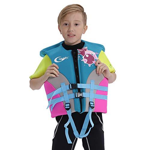 Yeah-hhi Chaleco Salvavidas para Niños Profesionales Chaleco De Flotabilidad Deportes Agua Neopreno con Punta Ajustable para Natación En Bote De Bote De Natación,XXL