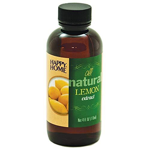 Happy Home Pure Lemon Extract- Certified Kosher, 4 oz.