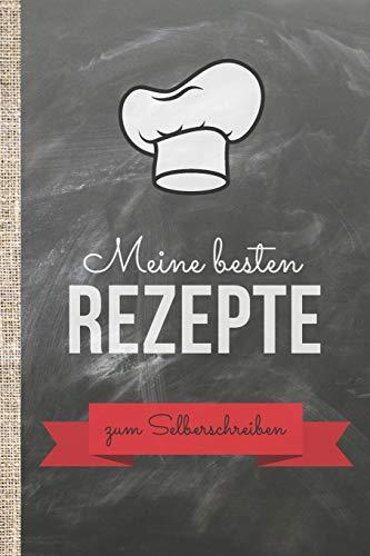 Meine besten Rezepte zum Selberschreiben: Kochbuch selbst schreiben! Das 120 Seiten starke linierte A4 Notizbuch bietet genügend Platz für die besten ... und gestalte das Einschreibebuch selbst!