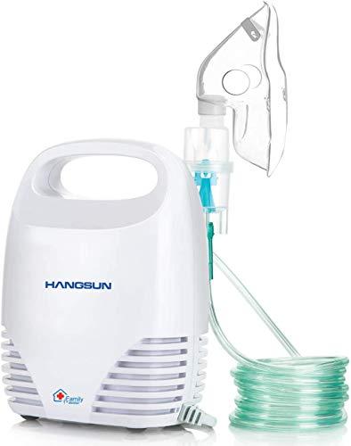 Hangsun Inhalador Nebulizador Electrico CN560 Nebulizador Bebe Adulto Para Inhalación De Medicamentos Líquidos (Blanco)