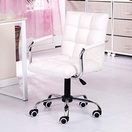 Barhocker Home Office Computer Stuhl Drehstuhl Boss Sessellift Stuhl Freiheit zu Lernen Computer-Stuhl Stuhl Sipi Make-up-Stuhl (Color : White)