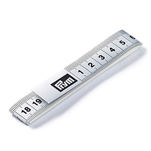 Prym Måttband Fixo Plus självhäftande 150 cm/cm, poly-fiber-tyg, silverfärgad