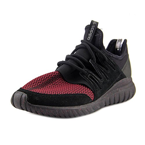 adidas Tubular Radial Mens in Black/Burgundy, 12