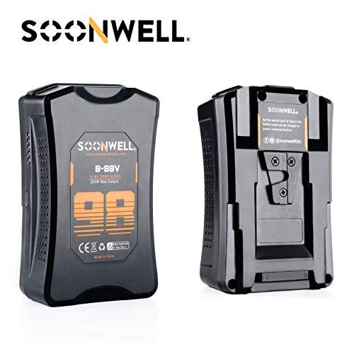 SOONWELL 98Wh V-Mount Batería 6600mAh V-Lock Batería con