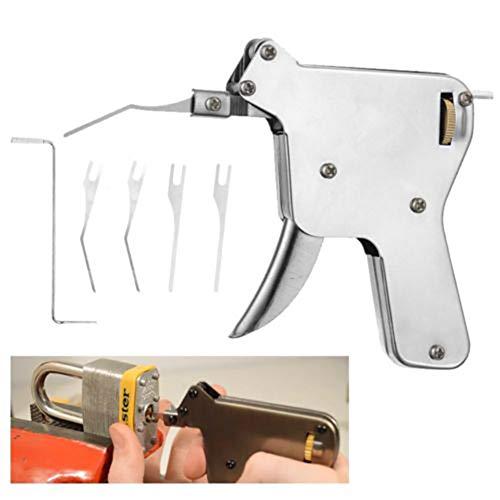 TAIPPAN Lock Pick Gun Herramienta Kit de herramientas de reparación de candado de bloqueo Con cabeza de salto fuerte y llave de tensión,puerta abrelatas de la cerradura
