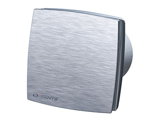 Lüfter / Ventilator / WC Badlüfter / größte europäische Qualitätsmarke / Vents LD A 100 TIMER / ALU FRONT / Ø 100 mm / NACHLAUF / leise und stark / Kugellager / Rückschlagklappe inklusiv