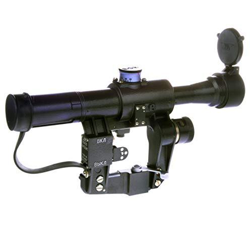BelOMO POSP 4x24 M. Optical Rifle Scope. Russian Side Mount. 1000m Rangefinder. 1 MOA. Combloc