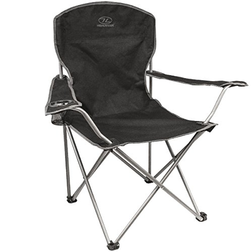 Lightweight Durable Compact Folding Camp Chair - Portable Chair with Cup Holder Perfect for Camping, Festivals, Garden, Caravan Trips, Fishing, Beach and BBQs