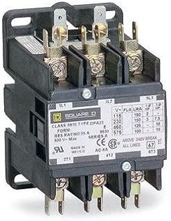 SCHNEIDER ELECTRIC 8910DPA73V02 Contactor 600-Vac 75-Amp Dpa Plus Options Electrical Box