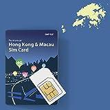 Tarjeta SIM prepaga GMYLE para Hong Kong y Macao, 5 GB / 14 días, Datos de Viaje 4G LTE 3G precargados, Reutilizables (sin Mensaje y Llamada, teléfono Desbloqueado)