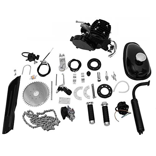 Sinnana 80cc Full Set Bike Bicycle Motorized 2 Stroke Petrol Gas Motor Engine Kit Set, Fitting Most 26