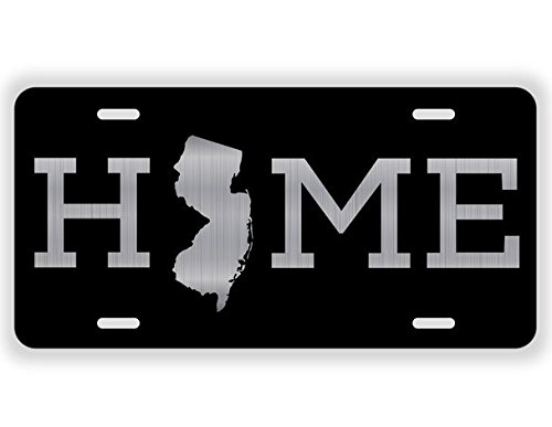 JMM Industries Home New Jersey State NJ Vanity Novelty License Plate Tag Metal 6-Inches by 12-Inches Etched Aluminum UV Resistant ELP034