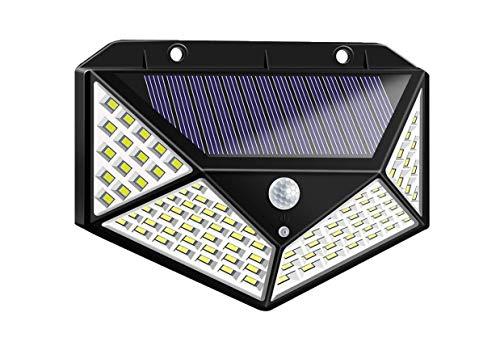 TEMPO DI SALDI Faretto Esterno Crepuscolare Ad Energia Solare 100 Led Con Sensore Di Movimento