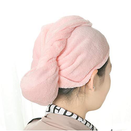 LLQM Capuchons de cheveux en velours corail, bonnet de douche absorbant, serviettes à cheveux, serviettes de toilette Baotou épaissies à séchage rapide