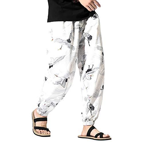 Harem Shorts Herren Männer Haremshose Drop Crotch Aladinhose Yoga Baggy Sarouel Boho Hosen Yogahose Hippie 3/4 Bermuda Shorts Von Allence