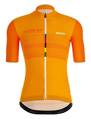Santini UCI Eyes Herren-Trikot, kurzärmelig M Mehrfarbig