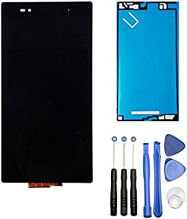 【mobadegi】Xperia Z Ultra 修理用フロントパネル(フロントガラスデジタイザ) 工具・両面テープセット (ブラック)