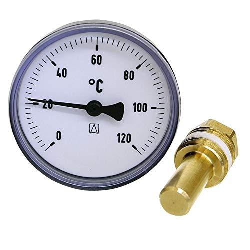 WITTKOWARE Bimetall-Thermometer, DN15 (1/2