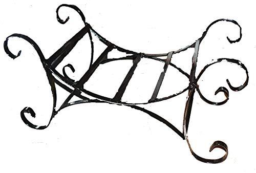 Cheminée en fer forgé style shabby chic rectangulaire Panier à bûches