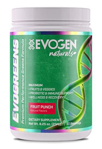 Evogen Nutrition - Evogreens Fruit Punch 30 porties - Natural series - Sportsupplement