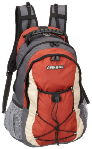 AspenSport Herren Rucksack Algier, grey/Red, 50 x 33 x 18 cm, 35 Liter