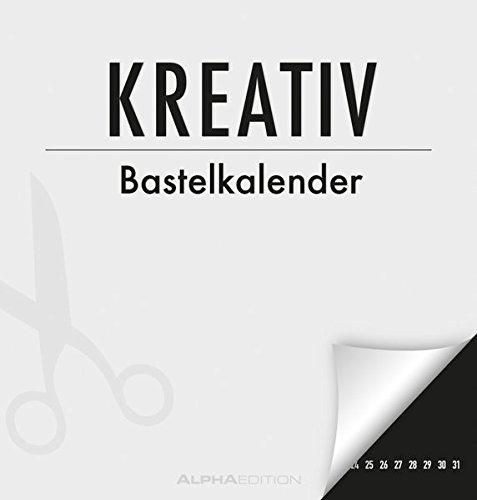Kreativ-Bastelkalender M - schwarz - Bastelkalender / Do it yourself calender (21 x 22) - Jahresunabhängig - Kreativkalender