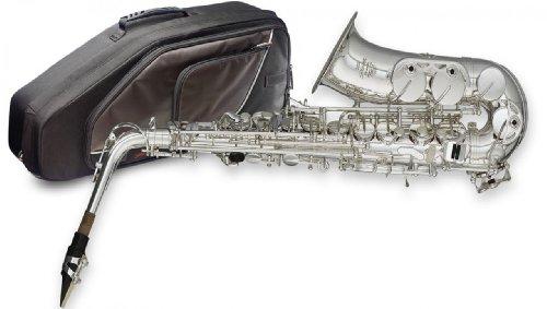 Stagg 77-sa/SL/SC Alt Saxophon mit ABS Fall–Silber Körper