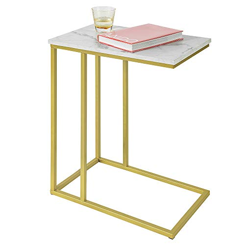 Haotian FBT87-G, Side Table End Table Coffee Tea Table, Bed Sofa Side Table Laptop Table