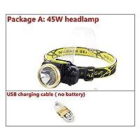 ミニLED USBヘッドランプ充電式ボディモーションセンサーヘッドランプ防水強力な懐中電灯ヘッドトーチ屋外ランプライト (色 : Package A)
