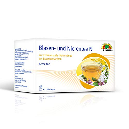SUNLIFE Blasen- und Nierentee N: Zur Erhöhung der Harnmenge bei Blasenkatarrhen, Arzneitee, 20 Beutel