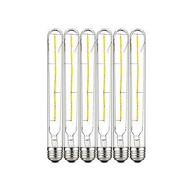 Sunlite 41071 LED T8 Filament Light Bulb 5-Watt (40W Equivalent), Dimmable Tube, Lightbulb, 6 Pack, 27K - Warm White
