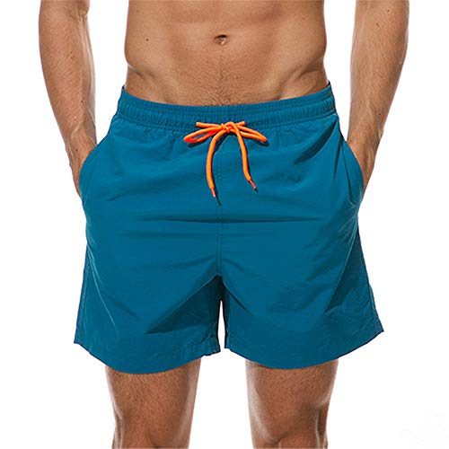 YUNSW Sommer Strandhose einfarbige Viertelshorts Herren Casual Shorts Trend Sport Shorts Strand Badehose