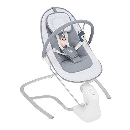 Babymoov Elektrische Babywippe Swoon Light - mit natürlichen Schaukelbewegungen, Spieluhr mit 8 Melodien, neigbarer Liegefläche