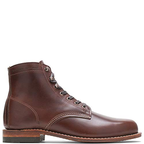 WOLVERINE Men's 1000 Mile Fashion Boot, Brown Leather, 9 D US