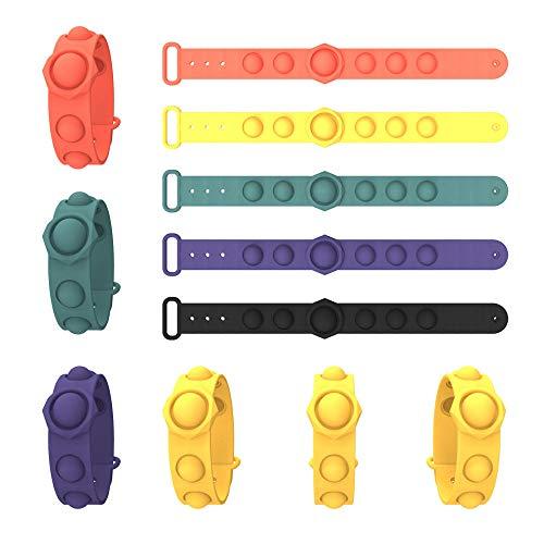 Pulsera elástica para niños, juguete antiestrés con cuerda elástica, para aliviar el estrés, autismo, juguetes de cuerda
