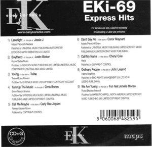Easy Karaoke EK EKi-69 EKi69 Express Hits Karaoke Disc Charts 2012