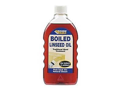 Everbuild EVBBOILLIN Boiled Linseed Oil, 500ml, 500 ml