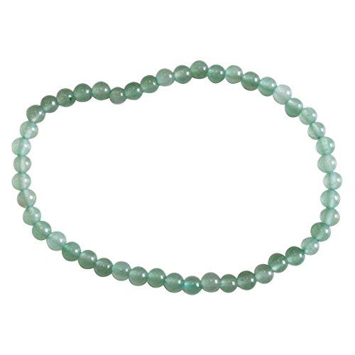 Armband, groene aventurijn, ronde parels, 4 mm