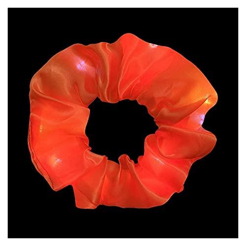 WANGJINQIAO LED Luminose Hair Bands Scrunchies Donne Girls Headwear Capelli Corda Polso Anelli Anelli in Gomma Accessori per Capelli forcine per Capelli (Color : Orange)