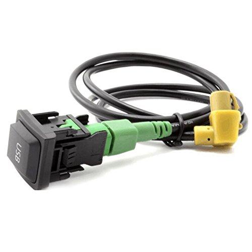 BAAQII Auto Audio USB Kabel Schalter für RCD510 / 310 RNS315 VW Golf Jetta MK5 / 6 Scirocco